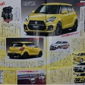 Suzuki Swift Sport 2017 màu vàng đã chính thức hé lộ toàn bộ thiết kế trên một tập san tin tức ô tô Nhật Bản.