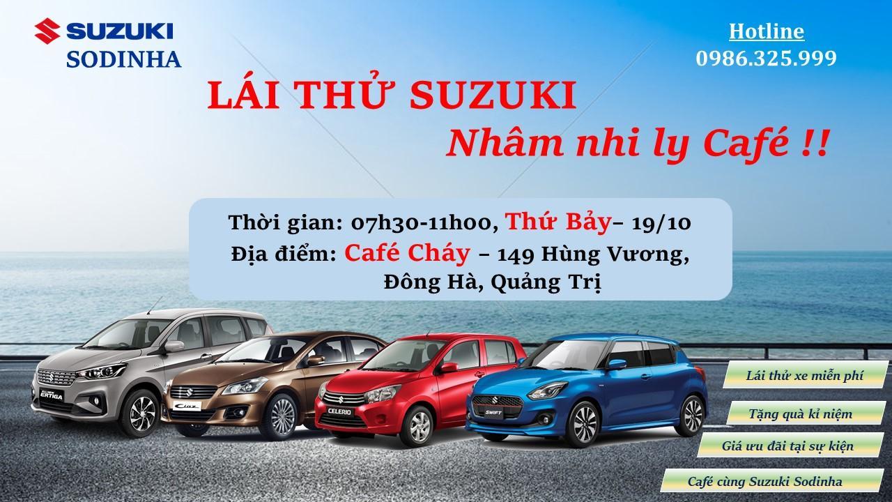 Lái thử Suzuki tại Cafe Cháy – Đông Hà